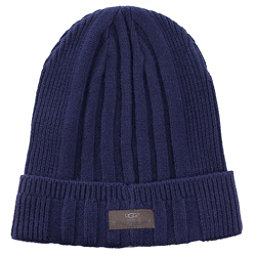 UGG Ribbed Cuff Mens Hat, Navy, 256