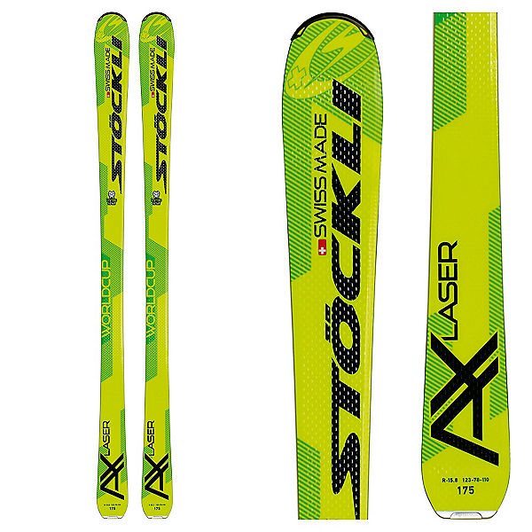Stockli Laser AX Skis 2017, Yellow-Green, 600