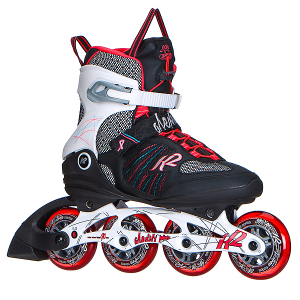 K2 Alexis Pro 84 Womens Inline Skates 2017, Black-White-Red, 600