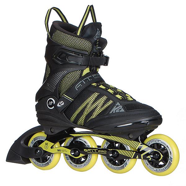 K2 F.I.T. Pro 84 Inline Skates 2017, Black-Yellow, 600