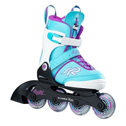 K2 Marlee Pro Adjustable Girls Inline Skates 2017, Light Blue, 256