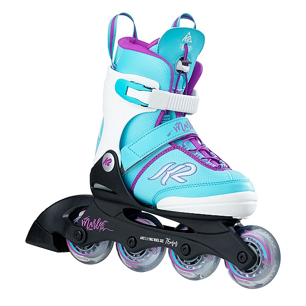 K2 Marlee Pro Adjustable Girls Inline Skates 2017, Light Blue, 600