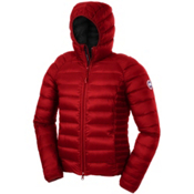 Canada Goose Brookvale Hoody Womens Jacket, Red-Black, medium