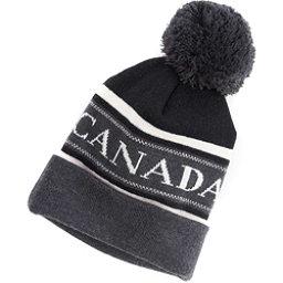 Canada Goose Merino Logo Pom Hat, Black-Graphite-White, 256
