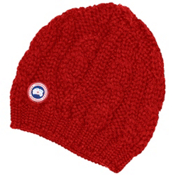 Canada Goose Chunky Cable Knit Beanie, Red, medium