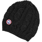 Canada Goose Chunky Cable Knit Beanie, Black, medium