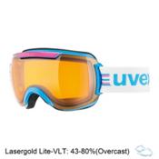 Uvex Downhill 2000 Race Goggles 2017, Cyan-Pink-Lasergold Lite, medium