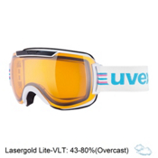Uvex Downhill 2000 Race Goggles, White-Black-Lasergold Lite, medium