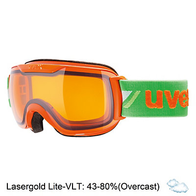 Uvex Downhill 2000 S Race Goggles 2017, Orange-Green-Lasergold Lite, viewer