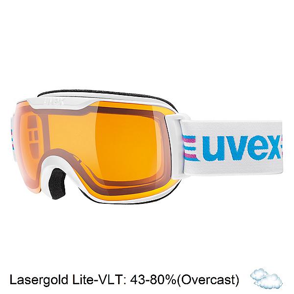 Uvex Downhill 2000 S Race Goggles, White-Black-Lasergold Lite, 600