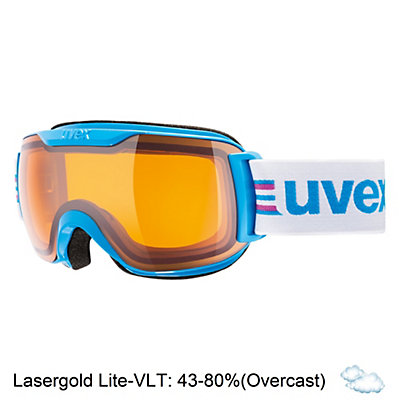 Uvex Downhill 2000 S Race Goggles, Orange-Green-Lasergold Lite, viewer