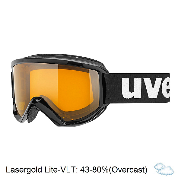 Uvex Fire Race Goggles, Black-Lasergold Lite, 600