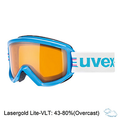 Uvex Fire Race Goggles, Black-Lasergold Lite, viewer