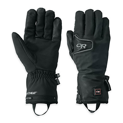 Outdoor Research StormTracker Heated Heated Ski Gloves, Black, viewer