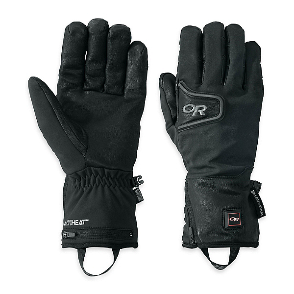 Outdoor Research StormTracker Heated Heated Gloves and Mittens, Black, 600