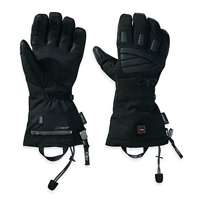 Outdoor Research Lucent Heated Heated Ski Gloves, Black, viewer