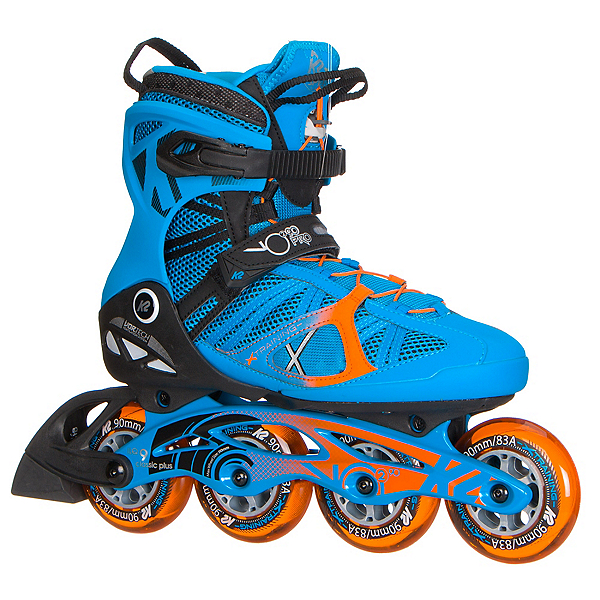 K2 VO2 90 Pro Inline Skates 2017, Blue-Orange, 600