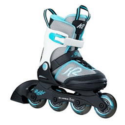 K2 Marlee Adjustable Girls Inline Skates 2017, Silver-Blue, 256
