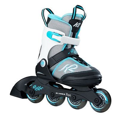 K2 Marlee Adjustable Girls Inline Skates 2017, Silver-Blue, viewer