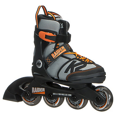 K2 Raider Adjustable Kids Inline Skates 2017, Black-Orange, viewer