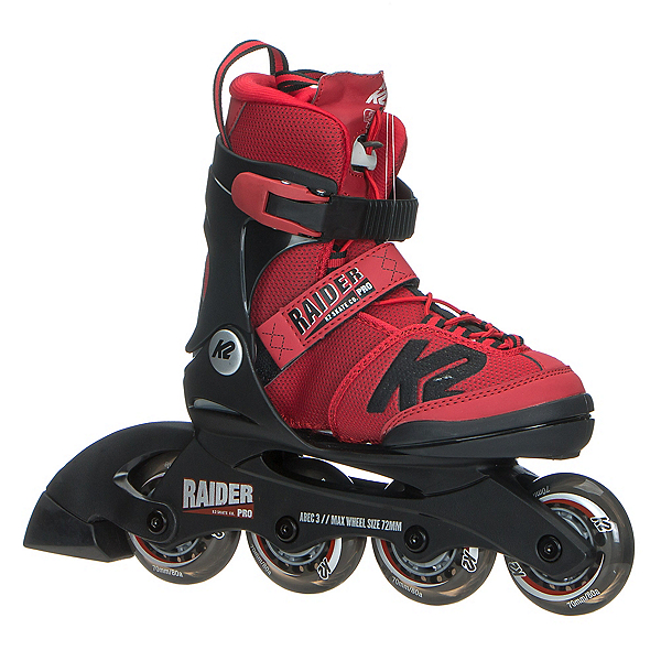 K2 Raider Pro Adjustable Kids Inline Skates 2017, Red, 600