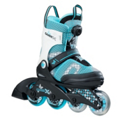 K2 Charm X Boa Adjustable Girls Inline Skates 2017, Black-Blue, medium