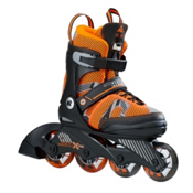 K2 Sk8 Hero X Pro Adjustable Kids Inline Skates 2017, Black-Orange, medium