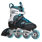 K2 Alexis 80 ALU Womens Inline Skates 2017, Black-White-Blue, medium