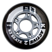 K2 Active 76mm 80A Inline Skate Wheels - 4 Pack 2017, , medium