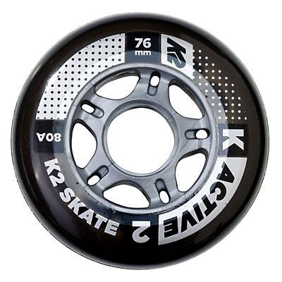 K2 Active 76mm 80A Inline Skate Wheels - 4 Pack 2017, , viewer