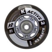 K2 72mm w/ ILQ 5 Alum Spacer Inline Skate Wheels with ILQ 5 Bearings - 8 Pack 2017, , medium
