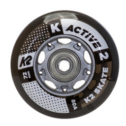 K2 72mm w/ ILQ 5 Alum Spacer Inline Skate Wheels with ILQ 5 Bearings - 8 Pack 2017, , 256