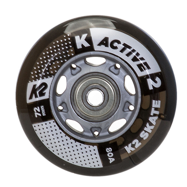 K2 72mm w/ ILQ 5 Alum Spacer Inline Skate Wheels with ILQ 5 Bearings - 8 Pack 2017, , 600