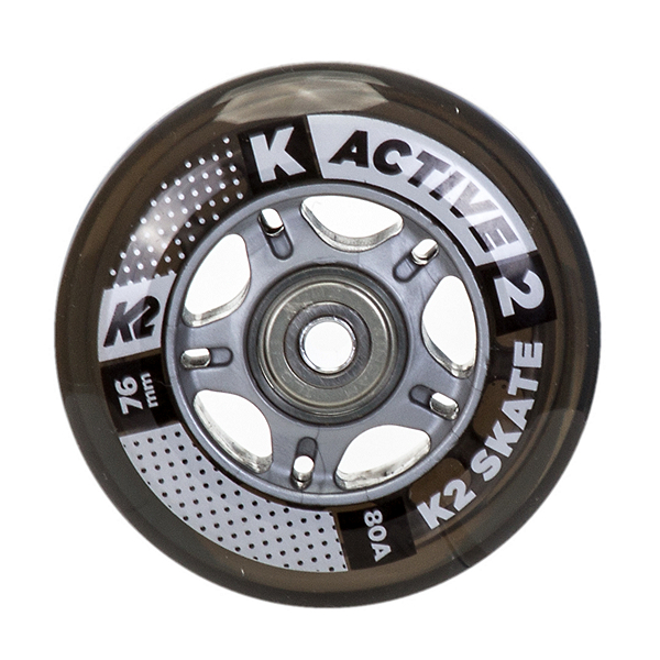 K2 76mm Inline Skate Wheels with ILQ5 Bearings - 8 Pack 2017, , 600