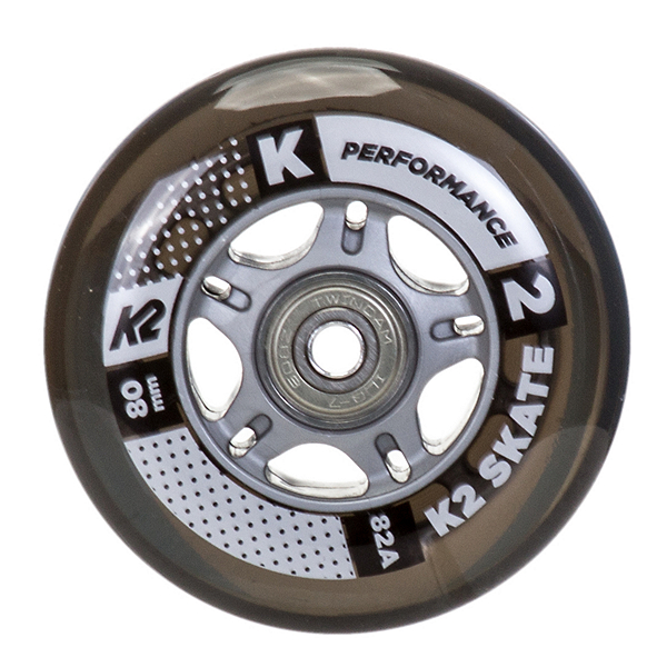 K2 80mm Inline Skate Wheels with ILQ7 Bearings - 8 Pack 2017, , 600