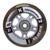 K2 84mm Inline Skate Wheels with ILQ7 Bearings - 8 Pack 2017, , medium