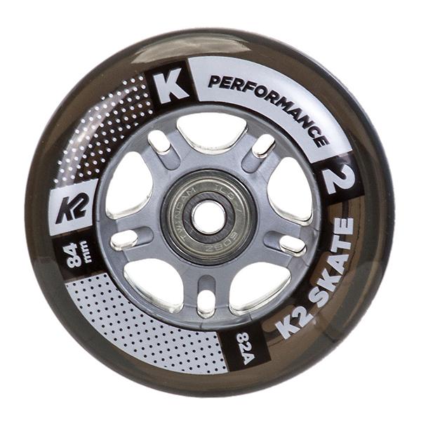 K2 84mm Inline Skate Wheels with ILQ7 Bearings - 8 Pack 2017, , 600