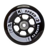 K2 90mm Inline Skate Wheels with ILQ9 Bearings - 8 Pack 2017, , medium