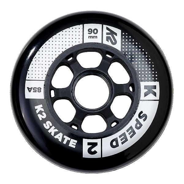 K2 Speed 90mm 85A Inline Skate Wheels - 4 Pack 2017, , 600