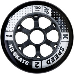K2 Speed 100mm 85A Inline Skate Wheels - 4 Pack 2017, , 256