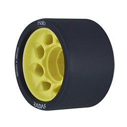 Riedell Halo - 4 Pack Roller Skate Wheels 2017, Yellow, 256