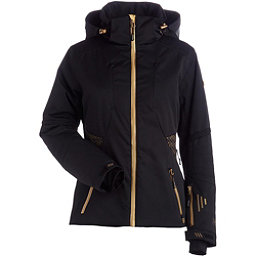 NILS Dakota Special Edition Womens Insulated Ski Jacket, Black-Metallic Gold Velocity P, 256