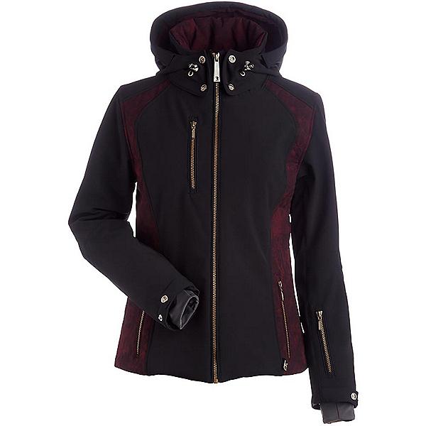 NILS Josie Womens Insulated Ski Jacket, Black-Cabernet Winter Winds Pr, 600
