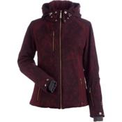 NILS Josie Womens Insulated Ski Jacket, Cabernet Winter Winds Print-Ca, medium