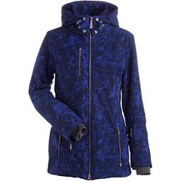 NILS Maribel Print Womens Insulated Ski Jacket, Indigo Winter Winds Print, 256