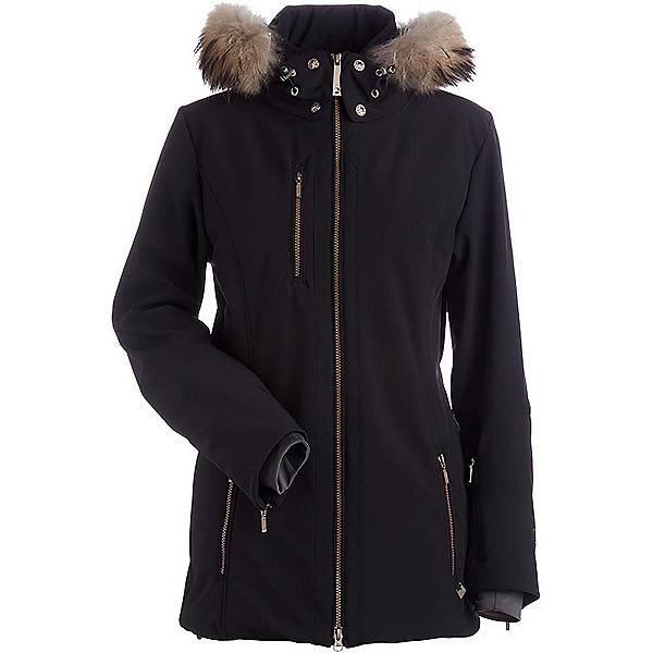 NILS Maribel Real Fur Womens Insulated Ski Jacket, Black, 600