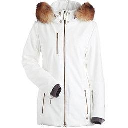 NILS Maribel Real Fur Womens Insulated Ski Jacket, White, 256