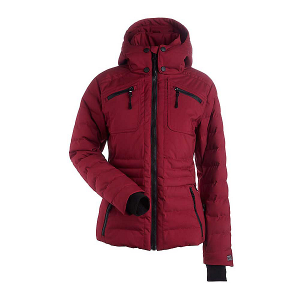 NILS Brooksie Womens Insulated Ski Jacket, Cranberry, 600