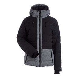NILS Brook Womens Insulated Ski Jacket, Black-Dark Texture, 256