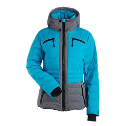 NILS Brook Womens Insulated Ski Jacket, Light Teal-Dark Texture, 256
